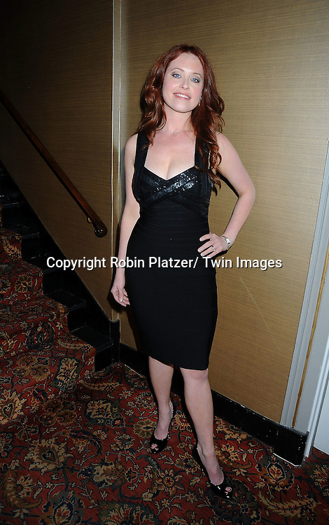 """Melissa Archer in Herve Leger dress attending The The Center for Hearing and Communication Centennial  """"Hear for the Future"""" Gala on October 18, 2010 at 583 Park Avenue in New York City."""