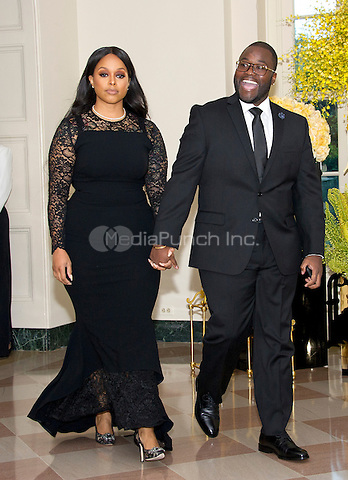 Singer Chrisette Michele and Doug Ellison arrive for the State Dinner honoring Prime Minister Lee Hsien Loong of the Republic of Singapore at the White House in Washington, DC on Tuesday, August 2, 2016.<br /> Credit: Ron Sachs / Pool via CNP/MediaPunch