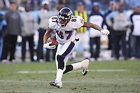 Ravens wide receiver Demetrius Williams caught four passes for 75 yards against the Titans at LP Field in Nashville, Tennessee on November 12, 2006. Baltimore won 27-26.