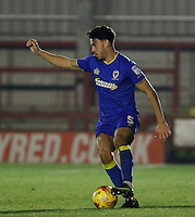 AFC Wimbledon's Will Nightingale on the ball during the The Checkatrade Trophy match between AFC Wimbledon and Brighton & Hove Albion Under 21s at the Cherry Red Records Stadium, Kingston, England on 6 December 2016. Photo by Carlton Myrie / PRiME Media Images