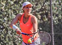 Hilversum, The Netherlands, September 2, 2018,  Tulip Tennis Center, NKS, National Championships Seniors, Womans 45+ final: Mirjan Swarte (NED)<br /> Photo: Tennisimages/Henk Koster