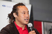 Former All Black Captain and Steelers Assistant Coach Tana Umaga addresses the players and guests at the Counties Manukau Rugby Junior Prize giving, held at Bayer Growers Stadium Pukekohe on Wednesday October 26th 2011.