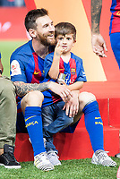 FC Barcelona's Leo Messi with his son after Copa del Rey (King's Cup) Final between Deportivo Alaves and FC Barcelona at Vicente Calderon Stadium in Madrid, May 27, 2017. Spain.<br /> (ALTERPHOTOS/BorjaB.Hojas) /NortePhoto.com