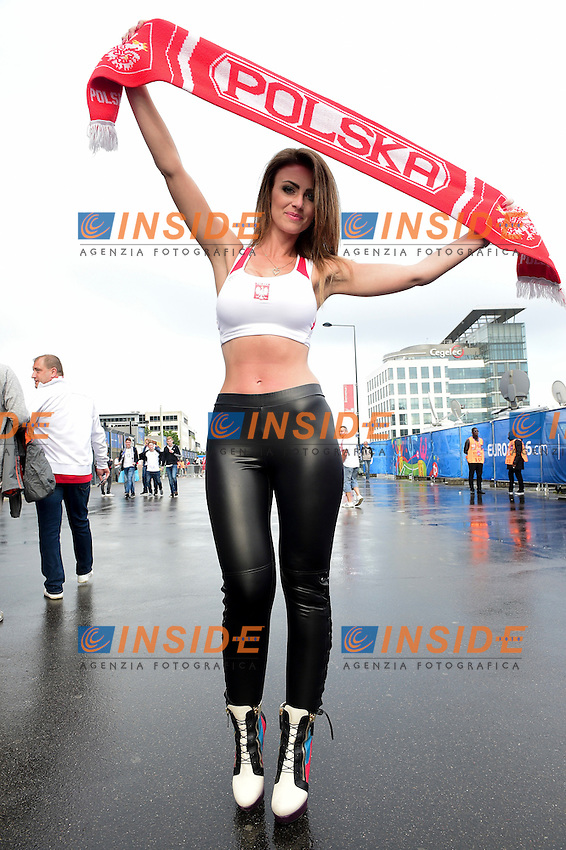 Poland Fan Tifosa Polonia <br /> Paris 16-06-2016 Stade de France Football Euro2016 Germany - Poland / Germania - Polonia Group Stage Group C. Foto JB Autissier / Panoramic / Insidefoto