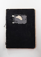 copertina di quaderno nero, diario partigiano di Bruno Guglielminotti<br />
