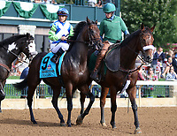 October 06, 2018 : #9 Chalon and Javier Castellano in the 38th running of the Thoroughbred Club of America (Grade 2) $250,000 at Keeneland Race Course on October 06, 2018 in Lexington, KY.  Candice Chavez/ESW/CSM
