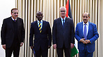 Palestinian Prime Minister, Rami Hamdallah, meets with Secretary General of the African Association of Public Administration (AAPAM) George Scott, in the West Bank city of Ramallah, on January 17, 2019. Photo by Prime Minister Office