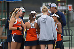 April 23, 2015; San Diego, CA, USA; Pepperdine Waves women's tennis team during the WCC Tennis Championships at Barnes Tennis Center.