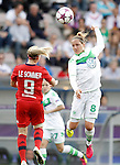 VfL Wolfsburg's Babett Peter (r) and Olympique Lyonnais' Eugenie Le Sommer during UEFA Women's Champions League 2015/2016 Final match.May 26,2016. (ALTERPHOTOS/Acero)
