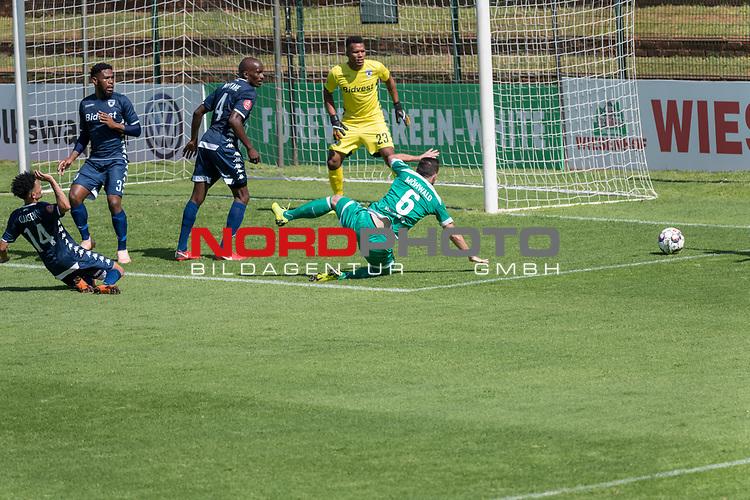 11.01.2019, Bidvest Stadion, Braampark, Johannesburg, RSA, FSP, SV Werder Bremen (GER) vs Bidvest Wits FC (ZA)<br /> <br /> im Bild / picture shows <br /> <br /> Foul an Kevin M&ouml;hwald / Moehwald (Werder Bremen #06) durch Granwald Scott Warren(Bidvest Wits FC #14) im Strafraum<br /> <br /> Foto &copy; nordphoto / Kokenge