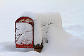 Rural mailbox in winter