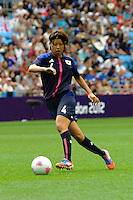 28.07.2012 Coventry, England. Saki KUMAGAI (Japan) in action during the Olympic Football Women's Preliminary game between Japan and Sweden from the City of Coventry Stadium