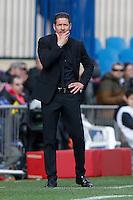 Diego Pablo Simeone Coach of Atletico de Madrid 2014 November 30 Madrid Spain. BBVA 14/15, 13º Match, match played between Atletico de Madrid vs Deportivo de la CoruĐa at Vicente Calderon stadium.
