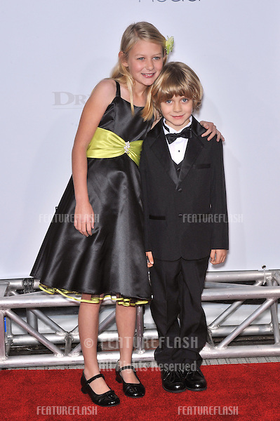 """Ryan Simpkins & Ty Simpkins at the world premiere of their new movie """"Revolutionary Road"""" at Mann Village Theatre, Westwood..December 15, 2008  Los Angeles, CA.Picture: Paul Smith / Featureflash"""