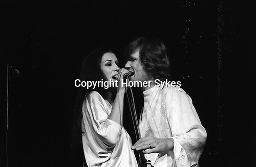 Rita Coolridge and Kris Kristofferson in concert 1978 West Berlin Germany.