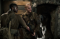 Overlord (2018) <br /> Jovan Adepo as Boyce, Wyatt Russell as Ford <br /> *Filmstill - Editorial Use Only*<br /> CAP/MFS<br /> Image supplied by Capital Pictures