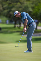 Jim Furyk (USA) watches his putt on 8 during Round 1 of the Valero Texas Open, AT&amp;T Oaks Course, TPC San Antonio, San Antonio, Texas, USA. 4/19/2018.<br /> Picture: Golffile | Ken Murray<br /> <br /> <br /> All photo usage must carry mandatory copyright credit (&copy; Golffile | Ken Murray)