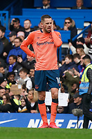 Everton's Gylfi Sigurdsson reacts at the end of the match<br /> <br /> Photographer Stephanie Meek/CameraSport<br /> <br /> The Premier League - Chelsea v Everton - Sunday 8th March 2020 - Stamford Bridge - London<br /> <br /> World Copyright © 2020 CameraSport. All rights reserved. 43 Linden Ave. Countesthorpe. Leicester. England. LE8 5PG - Tel: +44 (0) 116 277 4147 - admin@camerasport.com - www.camerasport.com