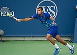 Jo-Wilfried Tsonga plays in the quarterfinals at Sony on Dec 31, 2011.  Tsonga won, 6-4,6-5.
