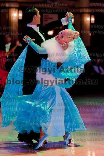 Liam Mclaren and Lenae Piconi from Australia perform their dance in the Amateur Ballroom competition of the Blackpool Dance Festival the most famous event among dance competitions held in Blackpool, United Kingdom on June 01, 2011. ATTILA VOLGYI
