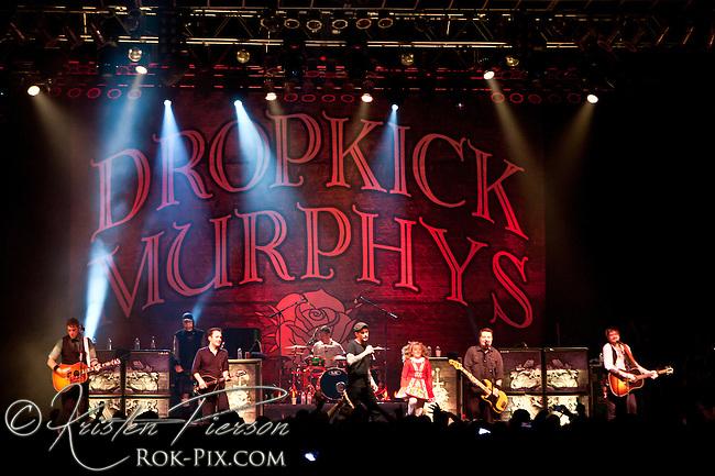 Dropkick Murphys perform at the House of Blues in Boston, Massachusetts on March 17, 2013