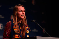 Philadelphia, PA - Thursday January 18, 2018: EJ (Emma Jane) Proctor during the 2018 NWSL College Draft at the Pennsylvania Convention Center.