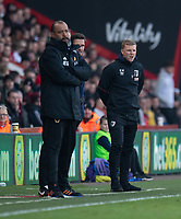 Bournemouth manager Eddie Howe (right) <br /> <br /> Photographer David Horton/CameraSport<br /> <br /> The Premier League - Bournemouth v Wolverhampton Wanderers - Saturday 23 February 2019 - Vitality Stadium - Bournemouth<br /> <br /> World Copyright © 2019 CameraSport. All rights reserved. 43 Linden Ave. Countesthorpe. Leicester. England. LE8 5PG - Tel: +44 (0) 116 277 4147 - admin@camerasport.com - www.camerasport.com