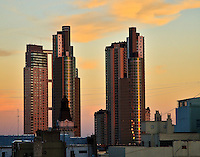 The sun sets on Buenos Aires, Argentina.
