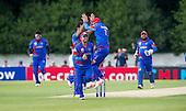 ICC World T20 Qualifier - GROUP B MATCH - NETHERLANDS V AFGHANISTAN at Grange CC, Edinburgh - Afghanistan celebrate a wicket — credit @ICC/Donald MacLeod - 09.07.15 - 07702 319 738 -clanmacleod@btinternet.com - www.donald-macleod.com