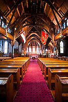 Old St. Paul's Cathedral, Wellington, North Island, New Zealand. This photo shows the interior of Old St. Paul's Cathedral, located in the centre of Wellington, the capital city of New Zealand.