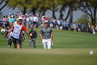 Thorbjorn Olesen (DEN) approaches the green on 1 during day 1 of the WGC Dell Match Play, at the Austin Country Club, Austin, Texas, USA. 3/27/2019.<br /> Picture: Golffile | Ken Murray<br /> <br /> <br /> All photo usage must carry mandatory copyright credit (© Golffile | Ken Murray)