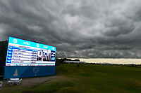 Heavy thunderstorms approach causing a 1 hour delay before the start of round 4 of the AT&T Byron Nelson, Trinity Forest Golf Club, at Dallas, Texas, USA. 5/20/2018.<br /> Picture: Golffile | Ken Murray<br /> <br /> <br /> All photo usage must carry mandatory copyright credit (© Golffile | Ken Murray)