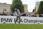 Darren Clarke (NIR) tees off on the 1st tee to start the Final Day of the BMW PGA Championship Championship at, Wentworth Club, Surrey, England, 29th May 2011. (Photo Eoin Clarke/Golffile 2011)