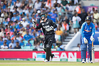 Tom Blundell (New Zealand) returns the ball to the bowler during India vs New Zealand, ICC World Cup Warm-Up Match Cricket at the Kia Oval on 25th May 2019