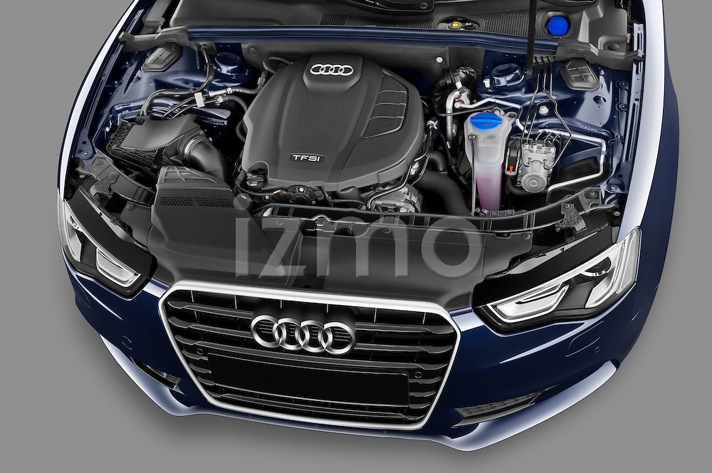 High angle engine detail of a 2013 Audi A5 Convertible .