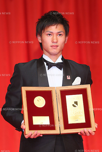 Takumi Minamino (Cerezo), <br /> DECEMBER 10, 2013 - Football / Soccer : <br /> 2013 J.League Awards &quot;Best Young Player&quot; <br /> at Yokohama Arena, Kanagawa, Japan. <br /> (Photo by YUTAKA/AFLO SPORT)