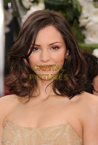 Katharine McPhee.Arrivals at the 69th Annual Golden Globe Awards at The Beverly Hilton Hotel, Beverly Hills, California, USA..January 15th, 2012.globes headshot portrait strapless beige.CAP/GDG.©GDG/Capital Pictures