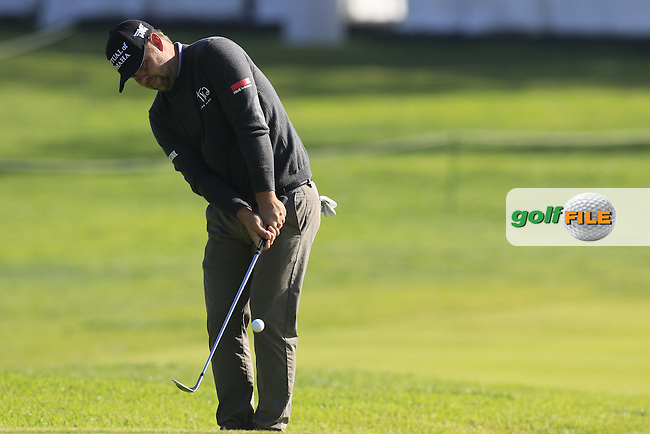 Ryan Moore (USA) chips onto the 2nd green during Thursday's Round 1 of the 2017 Genesis Open held at The Riviera Country Club, Los Angeles, California, USA. 16th February 2017.<br /> Picture: Eoin Clarke | Golffile<br /> <br /> <br /> All photos usage must carry mandatory copyright credit (&copy; Golffile | Eoin Clarke)