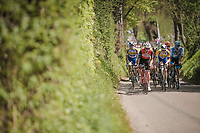 Julien Bernard (FRA/Trek-Segafredo) is the first one up the Gulpenerberg with the breakaway group<br /> <br /> 54th Amstel Gold Race 2019 (1.UWT)<br /> One day race from Maastricht to Berg en Terblijt (NED/266km)<br /> <br /> ©kramon