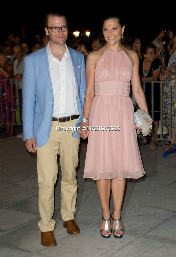 """CROWN PRINCESS VICTORIA AND HUSBAND DANIEL WESTLIG, DUKE OF VASTERGOTLAND_.at the cocktail party hosted by his parents King Constantine and  Queen Anne Marie at the Poseidonion Grace Hotel, Spetses_24/08/2010.Mandatory Credit Photo: ©DIASIMAGES..**ALL FEES PAYABLE TO: """"NEWSPIX INTERNATIONAL""""**..IMMEDIATE CONFIRMATION OF USAGE REQUIRED:.Newspix International, 31 Chinnery Hill, Bishop's Stortford, ENGLAND CM23 3PS.Tel:+441279 324672; Fax: +441279656877.e-mail: info@newspixinternational.co.uk"""