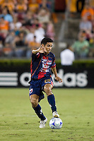 Atlante FC defender Arturo Munoz controls the ball.  Houston Dynamo defeated Atlante FC 4-0 during the group stage of the Superliga 2008 tournament at Robertson Stadium in Houston, TX on July 12, 2008.