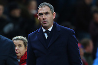 Swansea City manager Paul Clement after the final whistle of the Premier League match between Stoke City and Swansea City at the bet365 Stadium, Stoke on Trent, England, UK. Saturday 02 December 2017