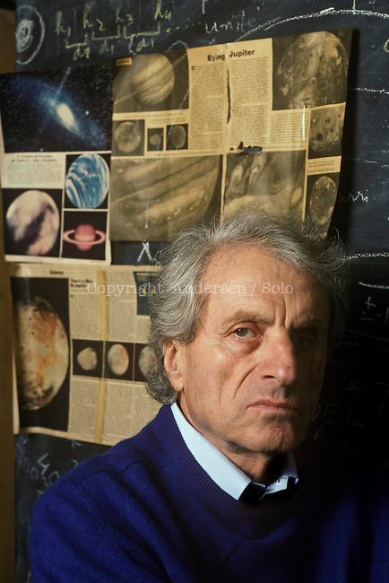 Yannis Xenakis, french composer, at home