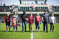 STANFORD, CA - October 21, 2018: Tegan McGrady at Laird Q. Cagan Stadium. No. 1 Stanford Cardinal defeated No. 15 Colorado Buffaloes 7-0 on Senior Day.
