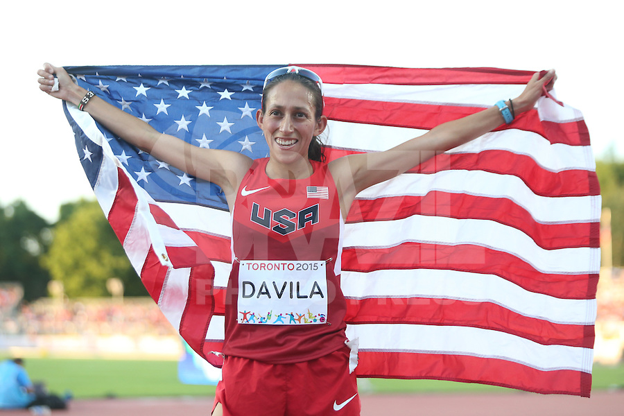 TORONTO, CANADÁ, 23.07.2015 - PAN-ATLETISMO - Americana Desiree Davila medalha de prata na prova de 10.000 metros no atletismo nos Jogos Panamericanos na cidade de Toronto no Canadá, nesta quinta-feira, 23 (Foto: Vanessa Carvalho/Brazil Photo Press)