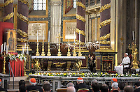 Pope Francis  during a prayer of the Holy Rosary  at the basilica of Saint Mary Major in Rome.May 4, 2013