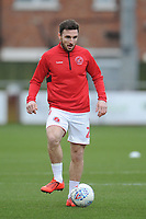 Fleetwood Town's Lewie Coyle during the pre-match warm-up <br /> <br /> Photographer Kevin Barnes/CameraSport<br /> <br /> The EFL Sky Bet League One - Fleetwood Town v Peterborough United - Saturday 15th February 2020 - Highbury Stadium - Fleetwood<br /> <br /> World Copyright © 2020 CameraSport. All rights reserved. 43 Linden Ave. Countesthorpe. Leicester. England. LE8 5PG - Tel: +44 (0) 116 277 4147 - admin@camerasport.com - www.camerasport.com