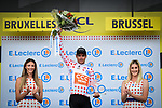 Greg Van Avermaet (BEL) CCC Team wears the first mountains Polka Dot Jersey at the end of Stage 1 of the 2019 Tour de France running 194.5km from Brussels to Brussels, Belgium. 6th July 2019.<br /> Picture: ASO/Alex Broadway | Cyclefile<br /> All photos usage must carry mandatory copyright credit (© Cyclefile | ASO/Alex Broadway)