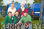 "READY: Getting their Greyhound Dog ""Denise Does It"" ready for the semi-finals of the Kilflynn Coursing on Sunday Front l-r: Patrick Riordan,John Sullivan and Stephen Riordan (Scartaglin). Back l-r: Michael Casey (Causeway) and Kathleen casey O'Connell (Abbeydorney).."