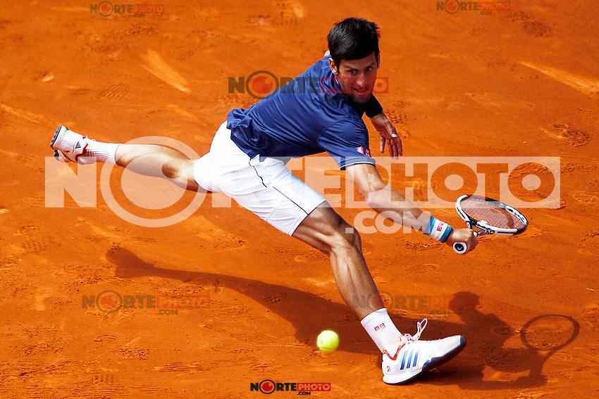 Novak Djokovic, Serbia, during Madrid Open Tennis 2017 match. May 10, 2017.(ALTERPHOTOS/Acero) /NortePhoto.com **NortePhoto.com